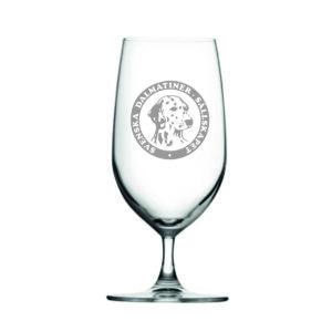 Svenska Dalmatinersällskapet Ölglas i kristall