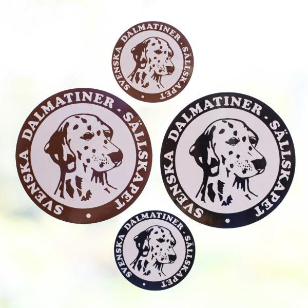 Klistermärken Dalmatinerklubben