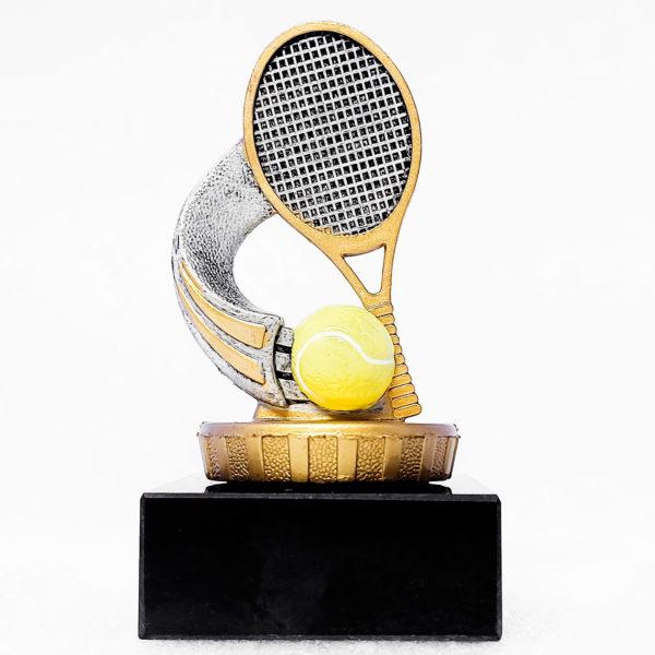 Statyett med tennisboll och rack