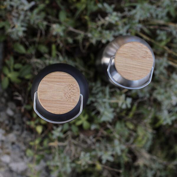 Miles termosflaskor lock med träovansida