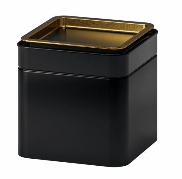 Teburk i svartlackad metall