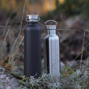 Miles termosflaskor i metall, 1 liter, svart + rostfri