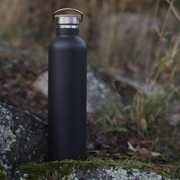 Miles termosflaska i metall, 1 liter, svart