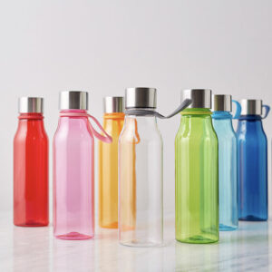 Plastvattenflaska i flera olika färger